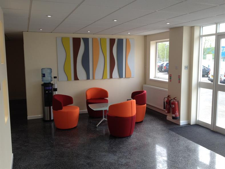 Reception area completed